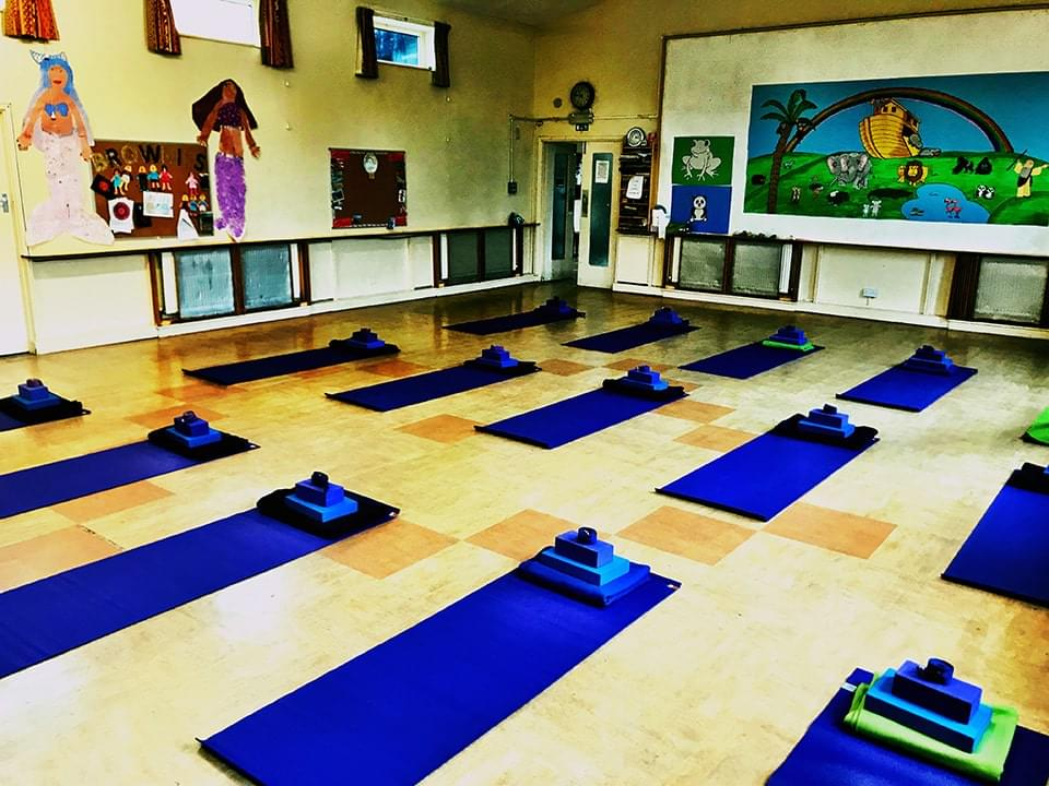 Goffs Oak Yoga Class Set Up