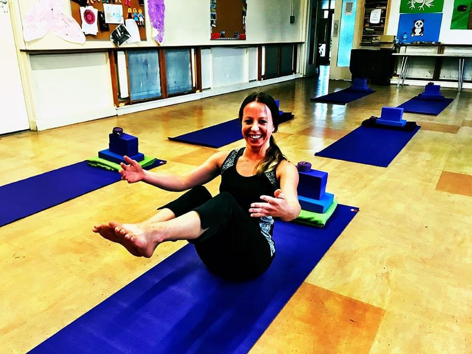 Vicky Salter Yoga Pose Goffs Oak Yoga Class
