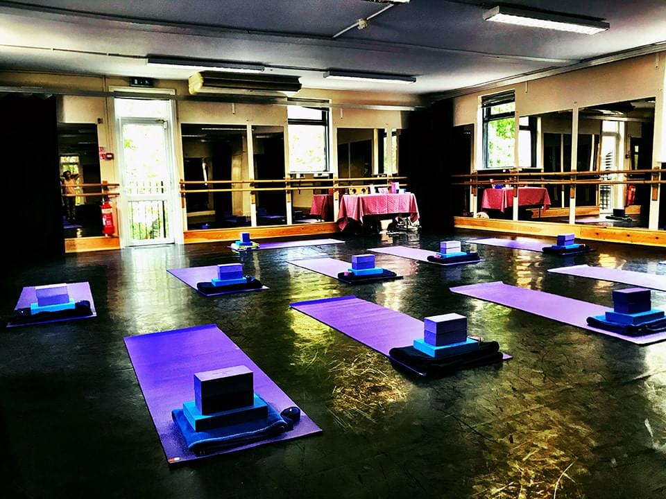 Yoga Class Set Up at Main Dance Studio Mayhem Theatre Arts Hoddesdon