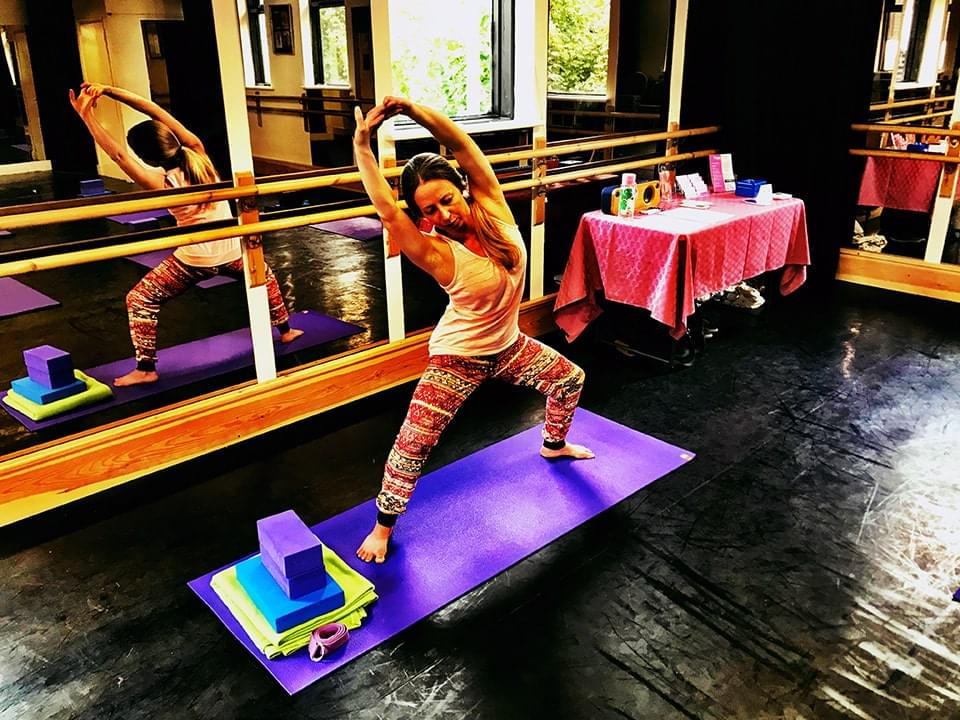 Vicky Salter Yoga Pose at Main Dance Studio Mayhem Theatre Arts Hoddesdon