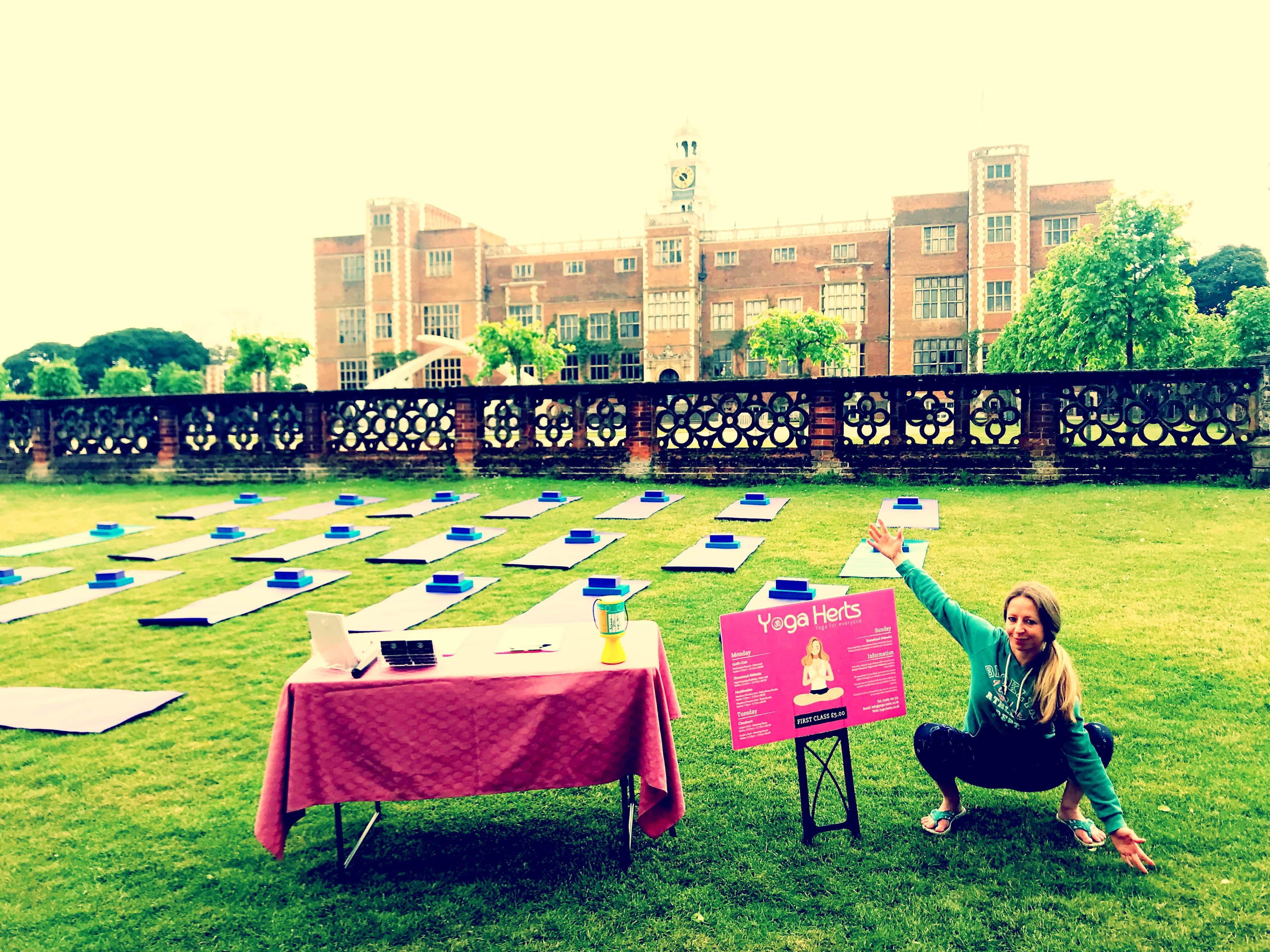 Yoga at Hatfield House