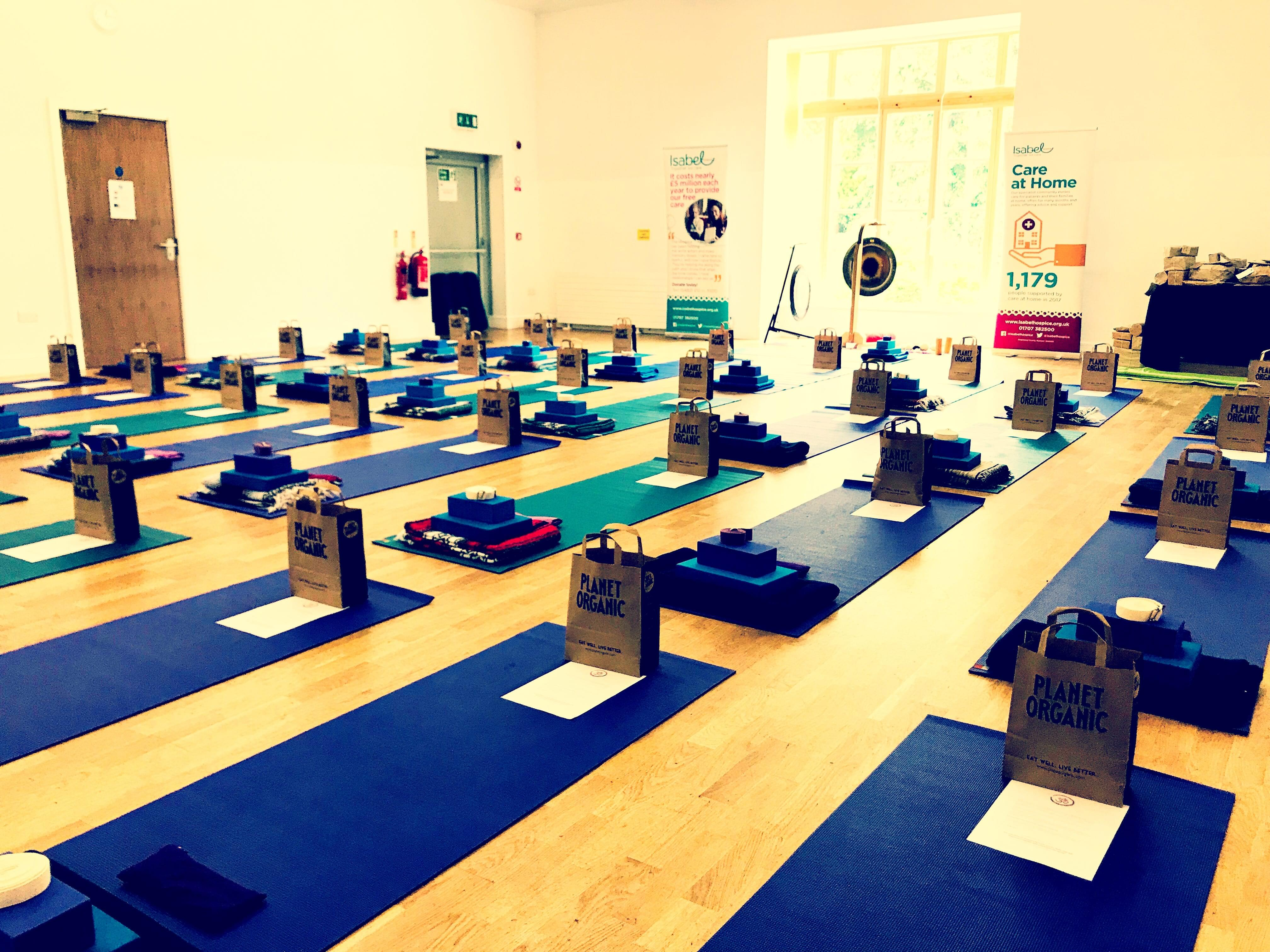 Isabel Hospice Charity Yoga Class